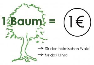 1 Baum = 1 Euro